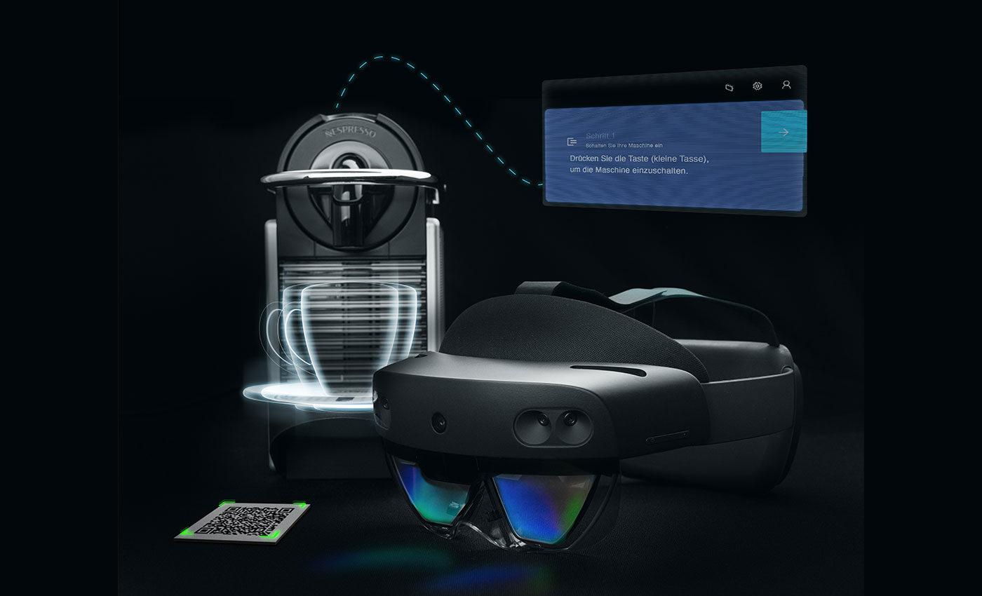 HoloLens 2 Training mit Nespressomaschine