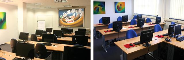 Moderne Schulungsräume machen das Lernen bei INCAS leicht