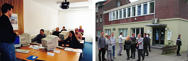 Schulungsraum und Firmensitz in Kempen 1999