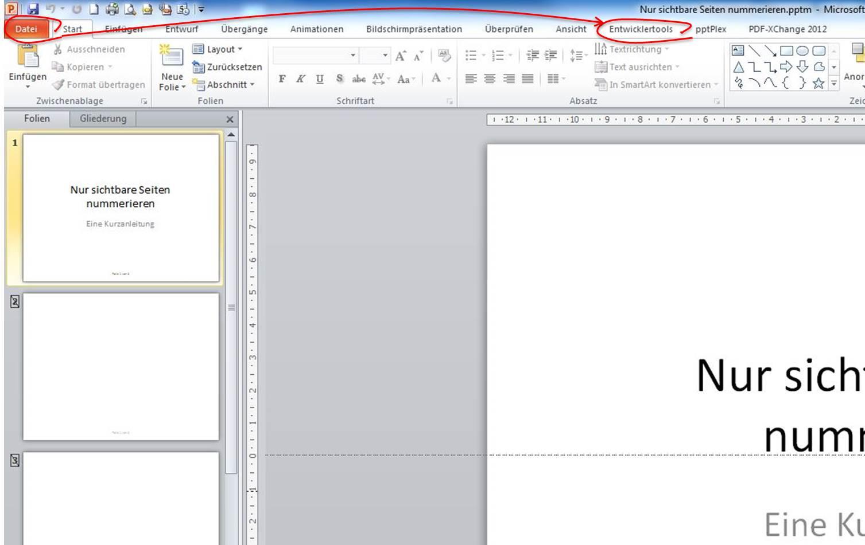 VBA Editor öffnen