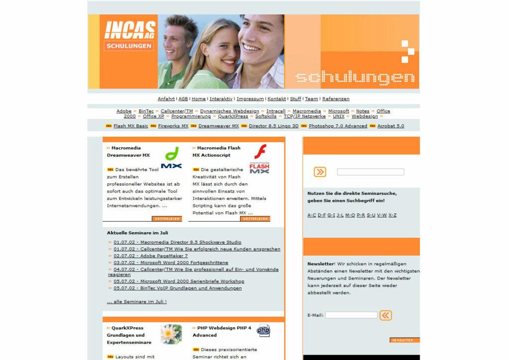 Website unter schulungen.incas.de